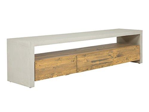 Massivum Gladstone TV-Bank, Holz, Natur, 40 x 180 x 46 cm