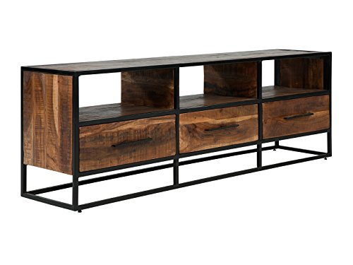 Massivum 10023661 Lowboard Oklahoma 3Schub, Holz, braun, 35 x 70 x 170 cm