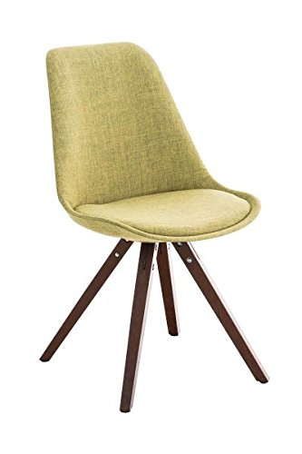 Esszimmerstuhl, Küchenstuhl, Lehnenstuhl, Sitzgelegenheiten, Besucherstuhl, Stuhl, Wartezimmerstuhl, Wohnzimmerstuhl Stuhl Stoff walnuss grün #PeglegS