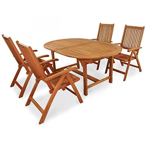 """Indoba Gartenmöbel Set, 5-teilig """"Bali"""" - Gartenset - Serie Bali, braun, 220 x 100 x 74 cm, IND-70068-BASE5"""