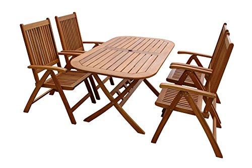 """Indoba Gartenmöbel Set, 5-teilig """"Bangor"""" - Gartenset - Serie Bangor, braun, 150 x 85 x 74 cm, IND-70063-BASE5"""