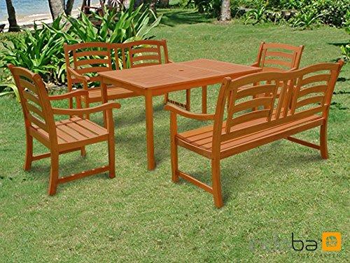 Gartenmöbel Set Holz Teilig ~ Mbm objekt gartenmöbel set brazil burma möbel letz ihr online shop