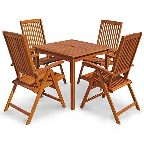 """Indoba Gartenmöbel Set, 5-teilig """"Sun Shine"""" - Gartenset - Serie, braun, 85 x 85 x 74 cm, IND-70299-SSSE5Q"""