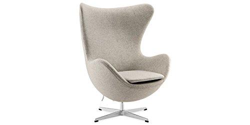Sessel Stuhl Retro DIXON EGG Gepolstert Armlehnenstuhl Design Vetrostyle hellgrau