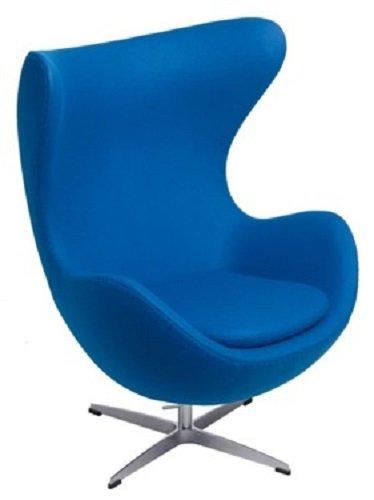 Sessel Stuhl Retro DIXON EGG Gepolstert Armlehnenstuhl Kaschmir Design Vetrostyle blau