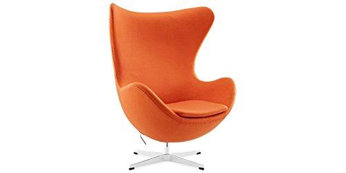 Sessel Stuhl Retro DIXON EGG Gepolstert Armlehnenstuhl Kaschmir Design Vetrostyle orange