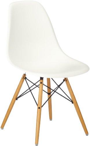 Vitra Eames Plastic Side Chair DSW Untergestell Ahorn gelblich / Sitzschale weiß 440023000204