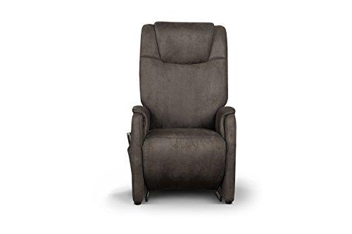 Cavadore Fernsehsessel Mamby / TV-Sessel elektrisch mit 2 Motoren zur Verstellung der Rückenlehne und Fußstütze / Ergonomie M / Belastbar bis 130 kg / Größe: 69x117x83 (BxHxT) / Farbe: Mocca (dunkelbraun)