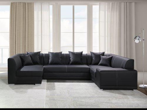 Sofa Couchgarnitur Couch Sofagarnitur ORLANDO BIS mit Schlaffunktion U Polstergarnitur Polsterecke Wohnlandschaft mit Schlaffunktion