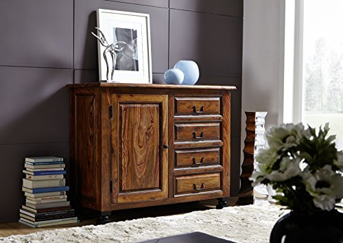 Kolonialart Sheesham Massivmöbel lackiert Sideboard Palisander vollmassiv Möbel massiv Holz NEW BOSTON #208