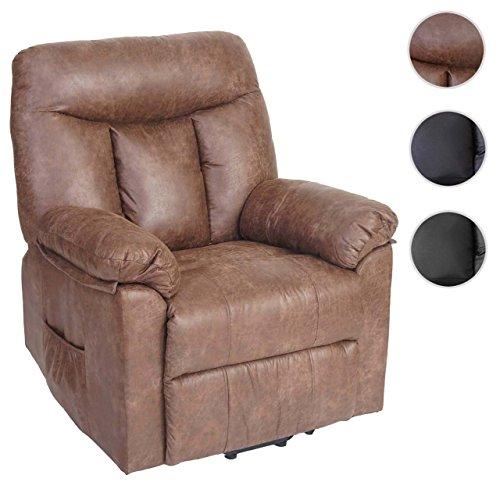 Mendler Fernsehsessel Watford, Relaxsessel Liege Sessel, Aufstehhilfe ~ Wildlederimitat, Textil