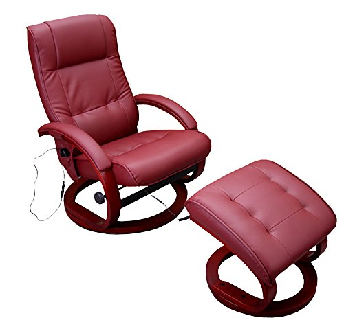 Mendler Massage-Fernsehsessel Pescatori II, Relaxsessel Massagesessel, Massagefunktion ~ bordeaux