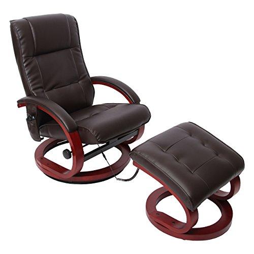 Mendler Massage-Fernsehsessel Pescatori II, Relaxsessel Massagesessel, Massagefunktion ~ coffee