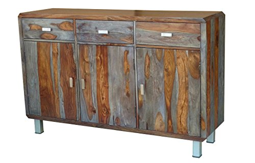 "Sideboard 140x90cm ""Nevada"" Sheesham lackiert/grau"