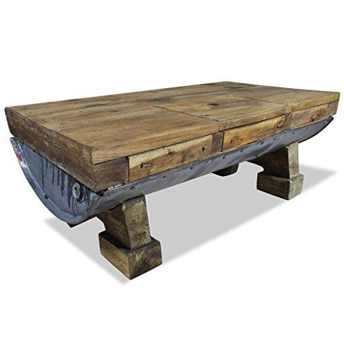 vidaXL Couchtisch Altholz Retro Tisch Beistelltisch Wohnzimmertisch Sofatisch