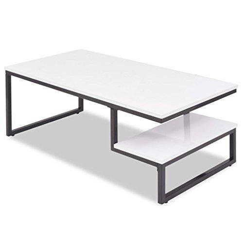 vidaXL Couchtisch Hochglanz Weiß Beistelltisch Sofatisch Kaffeetisch Tisch