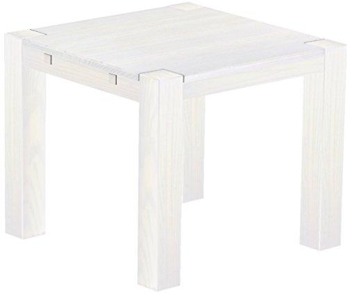 Brasilmöbel Esstisch 'Rio Kanto' 90 x 90 x 78 cm, Pinie Massivholz, Farbton Weiß