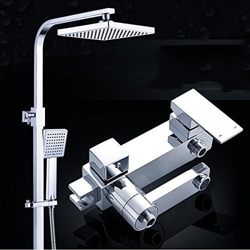 Dusch set Trennbar System Messing Duschpaneel Regendusche Mit Armatur Wasserhahn Multifunktional Wasserablauf Duschset Rainshower