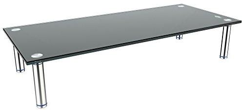 RICOO TV Ständer Monitorständer Bildschirmständer Podest FS7828B Universal Standfuß Rack Fernsehständer LCD QLED QE 4K LED OLED IPS SUHD UHD 3D Curved/76cm/30-140/55 Zoll/Schwarz