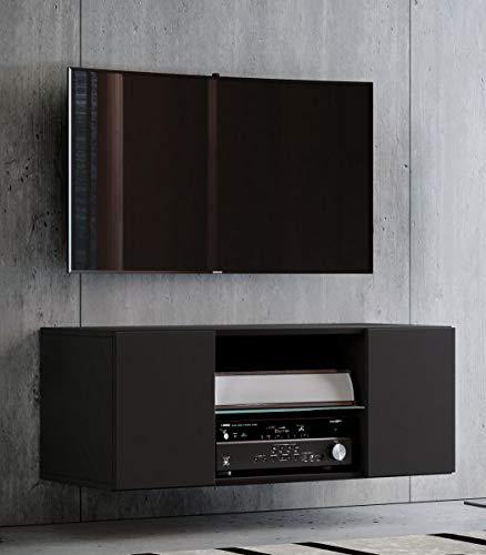 """VCM TV Schrank Lowboard Tisch Board Fernseh Sideboard Wandschrank Wohnwand Holz Schwarz 40 x 95 x 36 cm """"Jusa"""""""