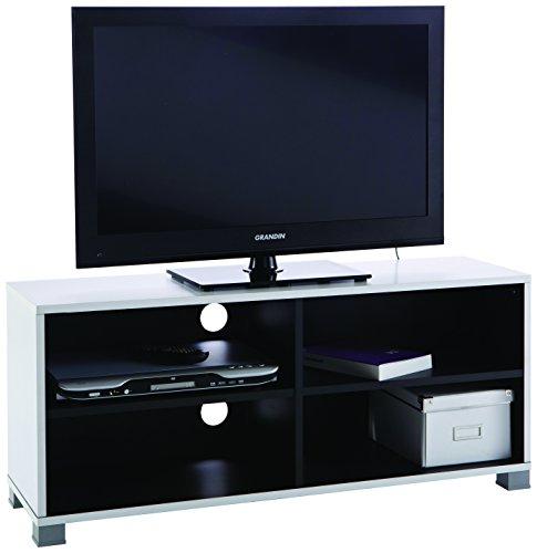 demeyere 453218 TV-Bank Grafit, weiß/schwarz