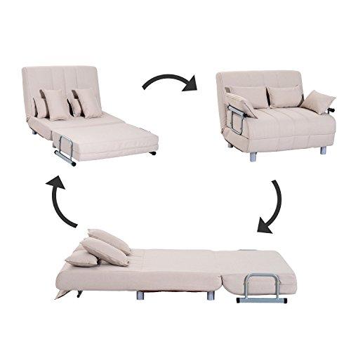 Homcom klappbarer Schlafsessel Schlafsofa Klappmatratze Faltmatratze Gästebett Klappbett Bett (Modell 4)