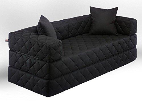 Möbel Pfiffig 1A Schlafsofa! 10 versch. Farben! Ideal für Kinder (schwarz)