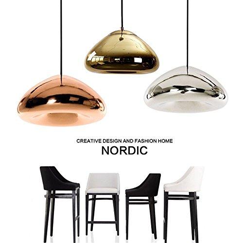 Runde Glas Pendelleuchte kreative Indoor Drop Beleuchtung für Kaffee Clothing Store RestaurantCafe Bar, 30 cm, Chrom