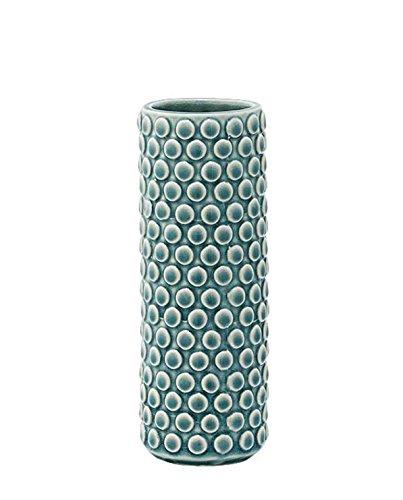 Bloomingville Struktur Vase Dusty Blue Ø6xH17cm