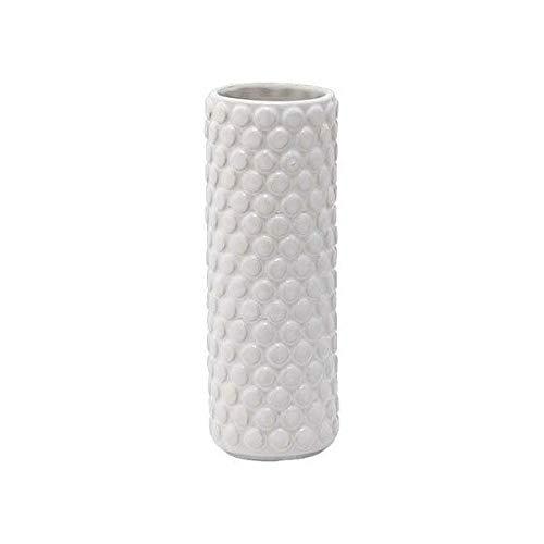 Bloomingville Struktur Vase weiß Ø6xH17cm
