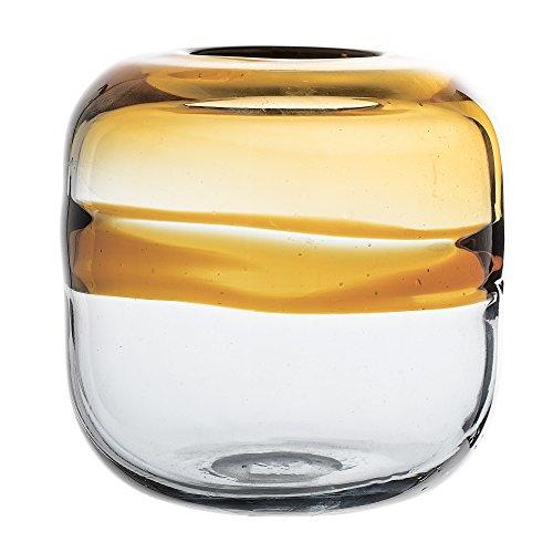 Bloomingville Vase, Brown, Glass Ø16xH16,5 cm