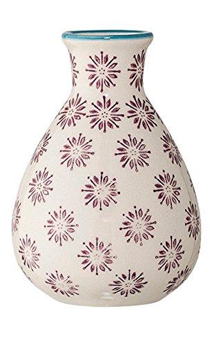 Bloomingville Vase Patrizia 6,5 x 11 cm lila Gemustert