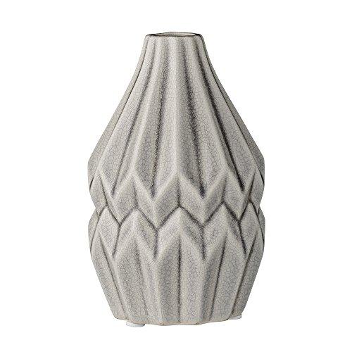 Bloomingville Vase, Wide Flute, Cool Grey Ceramic Ø9,5xH14 cm
